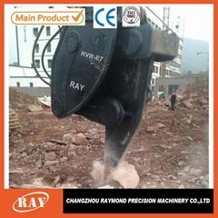 Construction ripper equipment vibrating