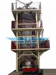 ABC hual off 3 layers co-extrusion film blowing machine
