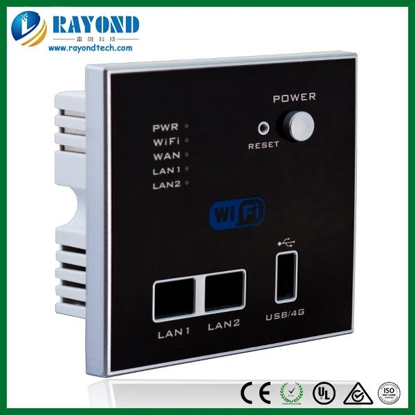 mini wall mount wireless access point router with 4G dongle and USB charger 1