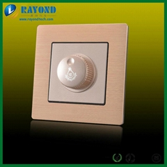 Golden Brushed Aluminum LED Light Dimmer Wall Switch