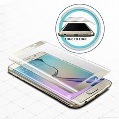 3D curved edge tempered glass screen protector  for  Samsung S6