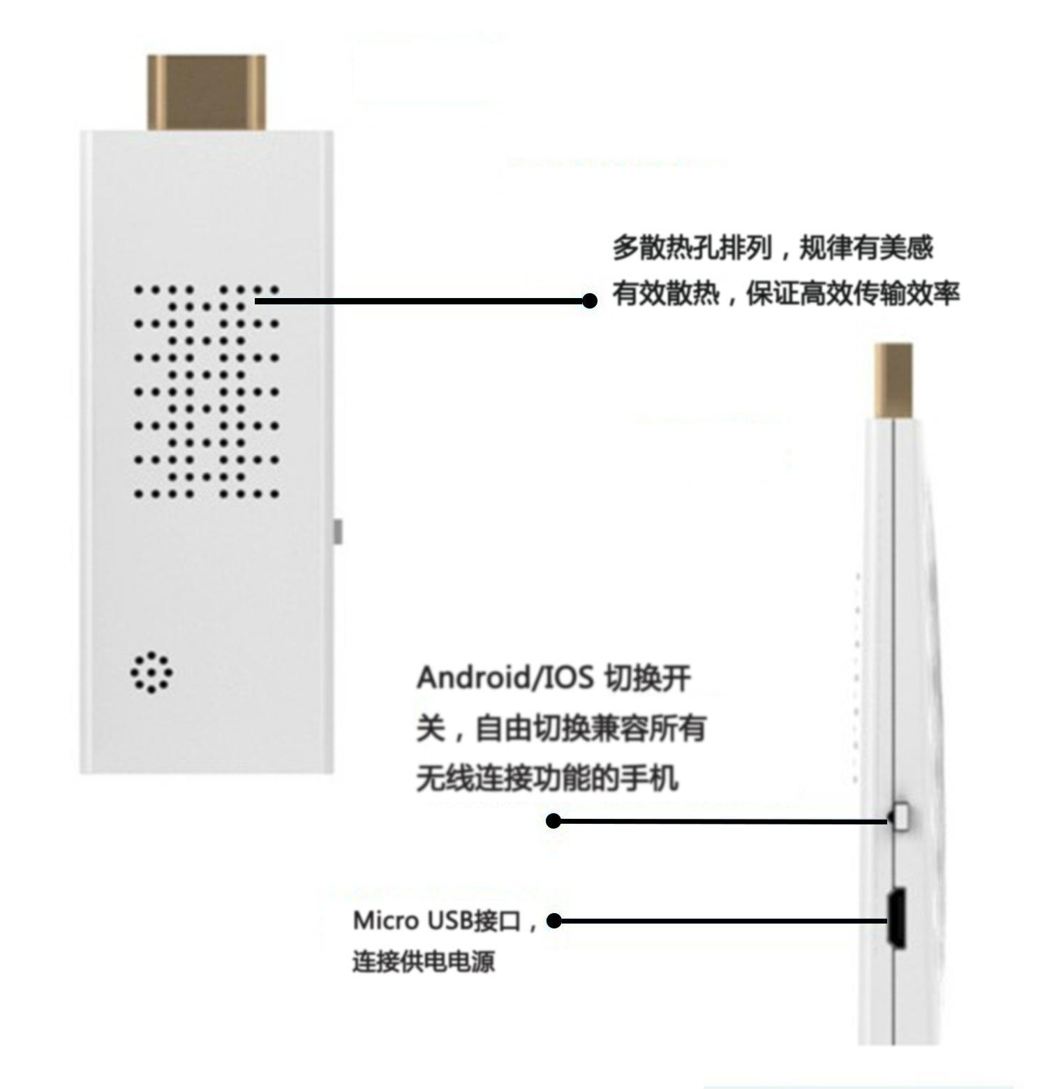 厂家热销 无线 镜像同屏hdmi推送器 5