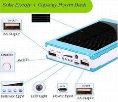 solar power bank Dual USB port portable power bank charger