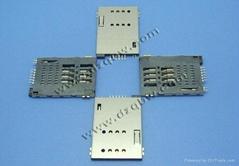 机顶盒车载DVD通讯类连接器SIM PUSH PUSH6+2常开型卡座