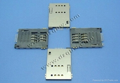 機頂盒車載DVD通訊類連接器SIM PUSH PUSH6+2常開型卡座