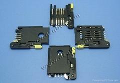 机顶盒车载产品仿MOLEX连接器SIM 8+2 带推杆盖子锁卡3.0H卡座