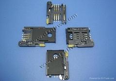機頂盒車載產品仿MOLEX連接器SIM 8+2 帶推杆蓋子鎖卡3.0H卡座