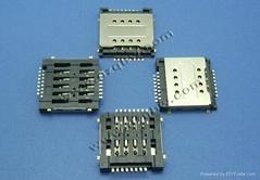 手机专用支持3g/4g网络双卡双模双层SIM 3.0mm高16P卡座