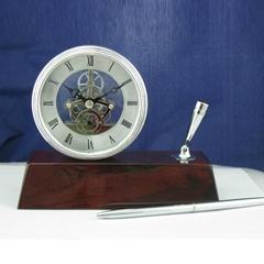 Brass Desk Clock,pen holder clock
