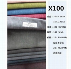 x100 36%polyester16%linen26%Cotton22%Viscose upholstery fabric