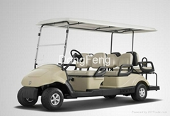 4+2 seats electric golf buggy with CE certificate