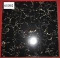 2019  Black Polished Floor Tile  600*600mm  61302