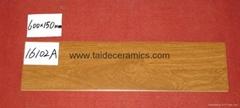 厂家直销高档木纹砖,仿木地板瓷砖,600*150mm   16102A