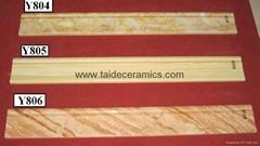 厂家直销高档数码喷墨玉石系列脚线砖 80*10cm  Y814