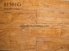 厂家直销高档全瓷木纹砖 仿木地板瓷砖 零甲醛无污染地砖 81501G