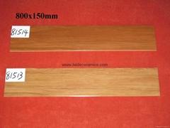 廠家直銷高檔3D噴墨木紋磚,全瓷木紋磚,仿木地板瓷磚  80*15cm 3D18503