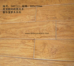 New Design Hot Sell Full Porcelain Ceramic Wooden Floor Tile 800*150mm  DA81511