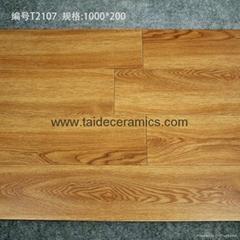 廠家直銷高檔全瓷木紋磚 仿木地板瓷磚 客廳地磚 100*20cm