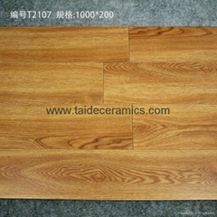 Hot Sell Rustic Wooden Tiles Full Polished Tiles Flooring Tiles 100*20cm