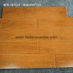 廠家直銷高檔全瓷木紋磚 仿木地板瓷磚 地磚 800*150mm
