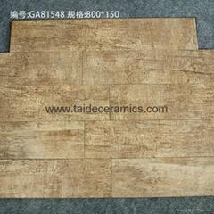 厂家直销高档6D喷墨全瓷木纹砖,木地板瓷砖,80*15cm 815L02