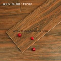 廠家直銷高檔全瓷木紋磚 仿木地板瓷磚 仿古磚 防滑耐磨磚 100*20cm