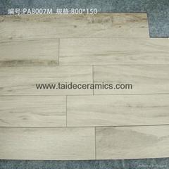 廠家直銷高檔全瓷木紋磚,仿木地板瓷磚,80*15cm PA8007M