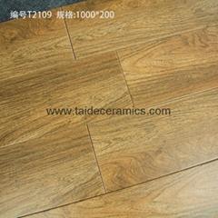 高檔全瓷木紋磚,仿木地板瓷磚  1000*200mm  LM21101