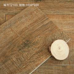 廠家直銷高檔全瓷木紋磚 陶瓷地板磚 噴墨仿古磚 高檔仿木紋瓷磚 1000x200