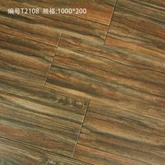 廠家直銷高檔全瓷木紋磚 木地板瓷磚 客廳地面磚 工程磚