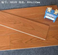 廠家直銷高檔3D噴墨木紋磚,全瓷木紋磚,仿木地板瓷磚  80*15cm