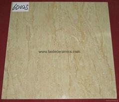 厂家直销高清数码喷墨全抛釉,全瓷地面砖,淄博地砖,60*60cm 6D025