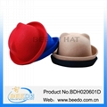Top quality wool felt party bowler hat