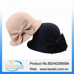 China wholesale cloche wool felt hat