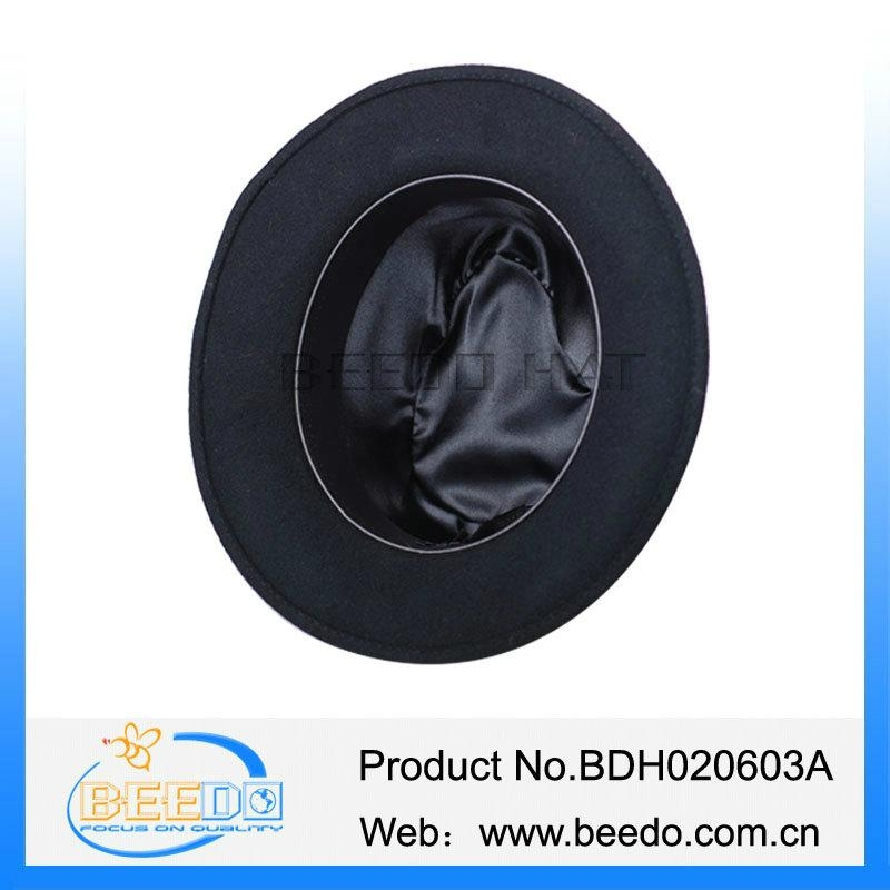 e3892573228 New black fedora formal mens jew hat with red band - BDH020603A ...