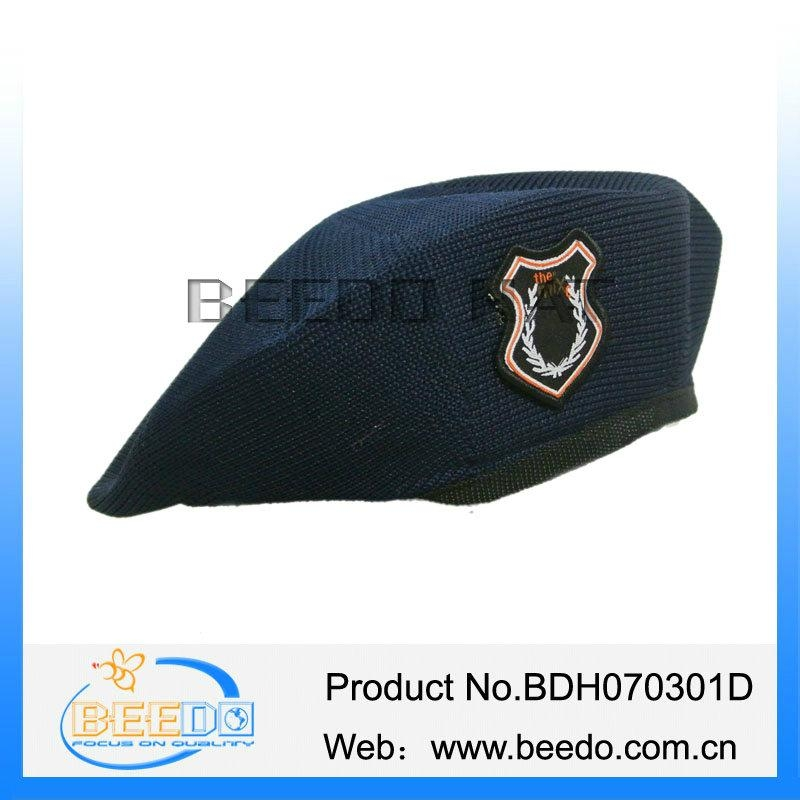 Nicely 100% polyester military mens beret hat for army uniform 1