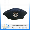 Nicely 100% polyester military mens beret hat for army uniform 3
