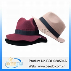 High quality wide brim floppy wool felt