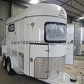 chinese imported horse floats,2 horse slant load trailer 1