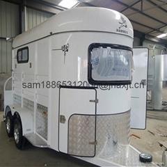chinese imported horse floats,2 horse slant load trailer