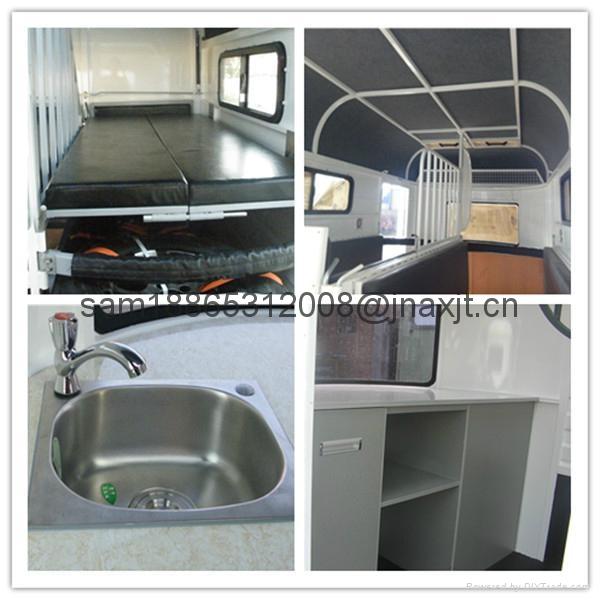 chinese imported horse floats,2 horse slant load trailer 2