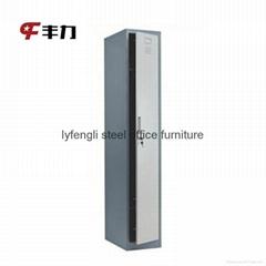 Single door steel locker cabinet
