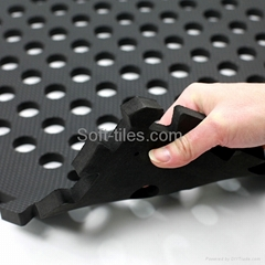 BLACK 60*60cm holes foam eva square rubber interlocking jigsaw Outdoor Jigsaw ma