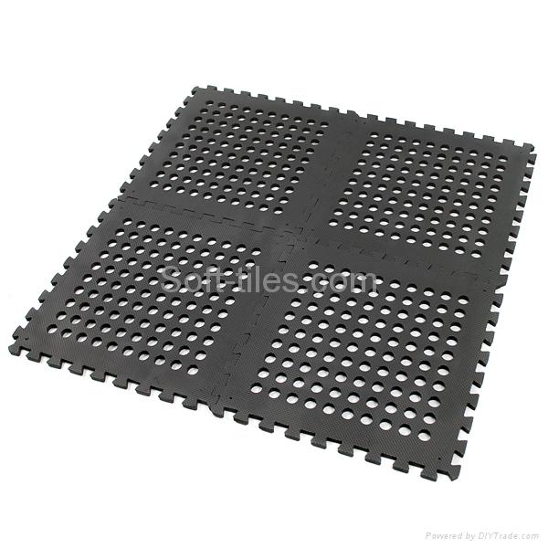 BLACK 60*60cm holes foam eva square rubber interlocking jigsaw Outdoor Jigsaw ma 3