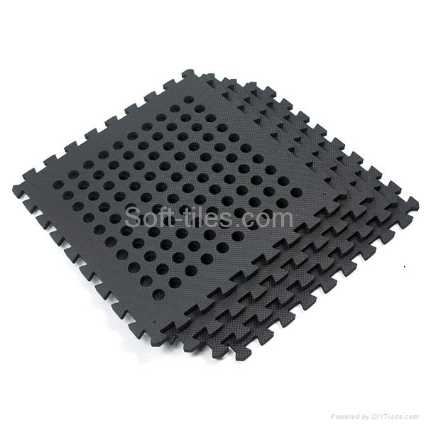 BLACK 60*60cm holes foam eva square rubber interlocking jigsaw Outdoor Jigsaw ma 2