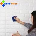3D Brick Thicken Soft PE Foam Wall Sticker Panels Wallpaper Decor Stone Marble c 2