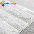 3D Brick Thicken Soft PE Foam Wall Sticker Panels Wallpaper Decor Stone Marble c 1