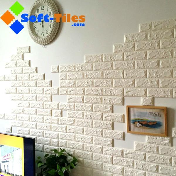 3D Brick Thicken Soft PE Foam Wall Sticker Panels Wallpaper Decor Stone Marble c 3