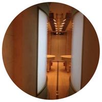 Curve LED slim light box