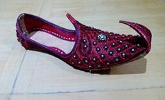 Unisex Handmade Leather Khussa Bridal Wedding Shoes